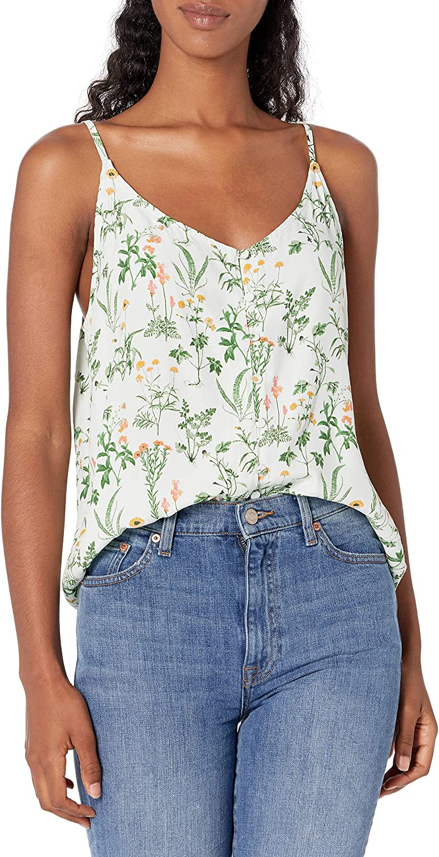 Lucky Brand Women's Sleeveless Button Front Cami Top