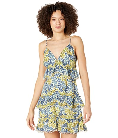 LOST + WANDER Blossom and Bloom Cami Mini Dress (Blue/Yelllow Floral) Women