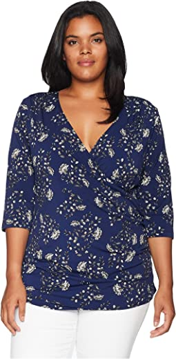 Plus Size Jaime Faux Wrap Top