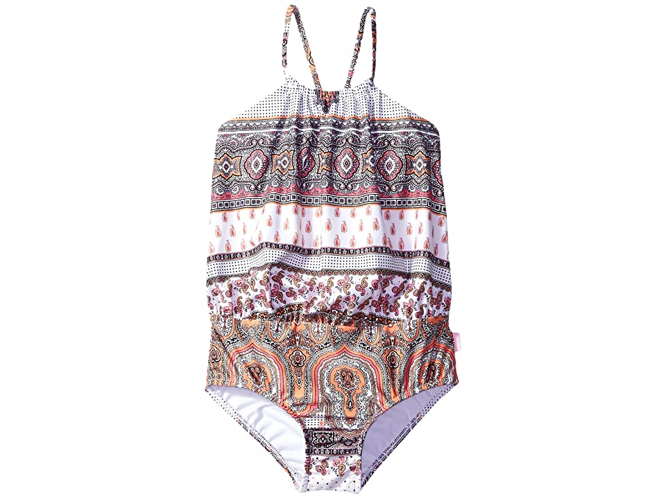 Seafolly Kids Moroccan Paisley Blouson Tank One-Piece (Toddler/Little Kids) (Multi) Girl