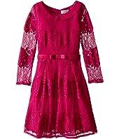 Us Angels - Lace 3/4 Sleeve Peter Pan Collar Dress (Big Kids)