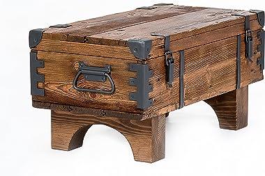 Tavolino Old Travel baule Masive pino Cottage vintage petto 37cm altezza/38.5cm profondità/77cm larghezza
