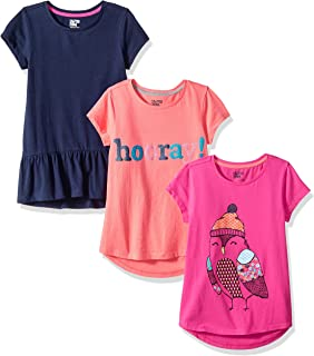 2-Pack Cotton Tee Turkey Baby Baby Girls Short Sleeve Ruffles T-Shirt Tops