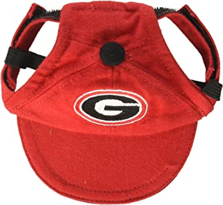 DOG CAP. - NCAA Licensed CAP. - COLLEGE Footbal/Basketball PREMIUM DOG CAP. - Durable & Adjustable COLLEGIATE CAP for DOGS & CATS. 3 Sizes available in 17 SCHOOL TEAMS