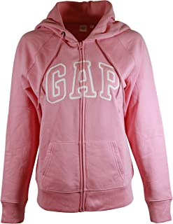 Womens Fleece Arch Logo Full Zip Hoodie