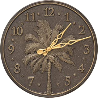 Whitehall Single Palm Wall Clock 16 x 16