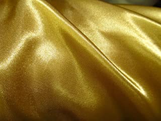 (EconoRolls 100% Polyester Satin Charmeuse Gold 60 Inch Fabric By 50 Yards Sold by the Bolt - Wholesale (F.E.)