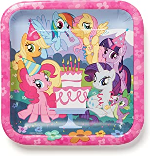 American Greetings, Little Pony Paper Dinner Plates, 8-Count, Lunch