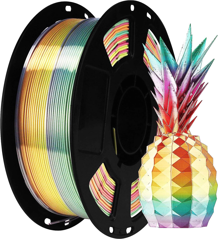 BBLIFE Silk Shiny Multi Color Fast Max 53% OFF PLA Filament Rainbow Philadelphia Mall Change