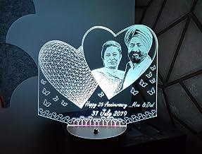 DESIGN ELLE Crystal Led Lamp (8 x 9 x 4 inch, Multicolour)