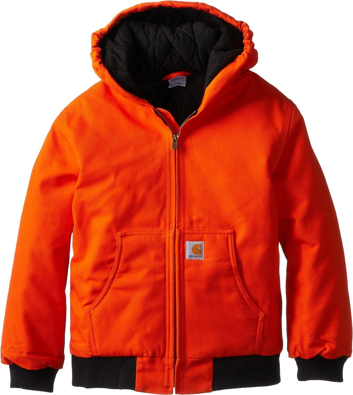 Amazon Com Carhartt Boys Active Jacket Outerwear Clothing [ 1500 x 1337 Pixel ]