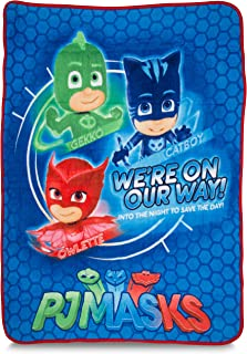 "Franco Kids Bedding Super Soft Plush Throw, 46"" x 60"", PJ Masks"