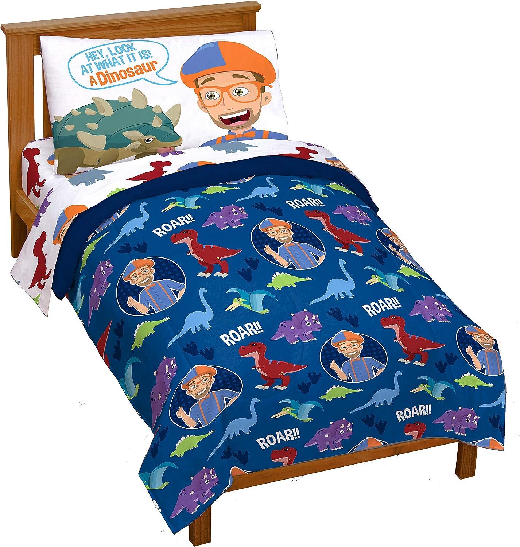Jay Franco Blippi Dino Nippon regular agency Fun 4 Toddler – Al sold out. Super Bed Piece Set