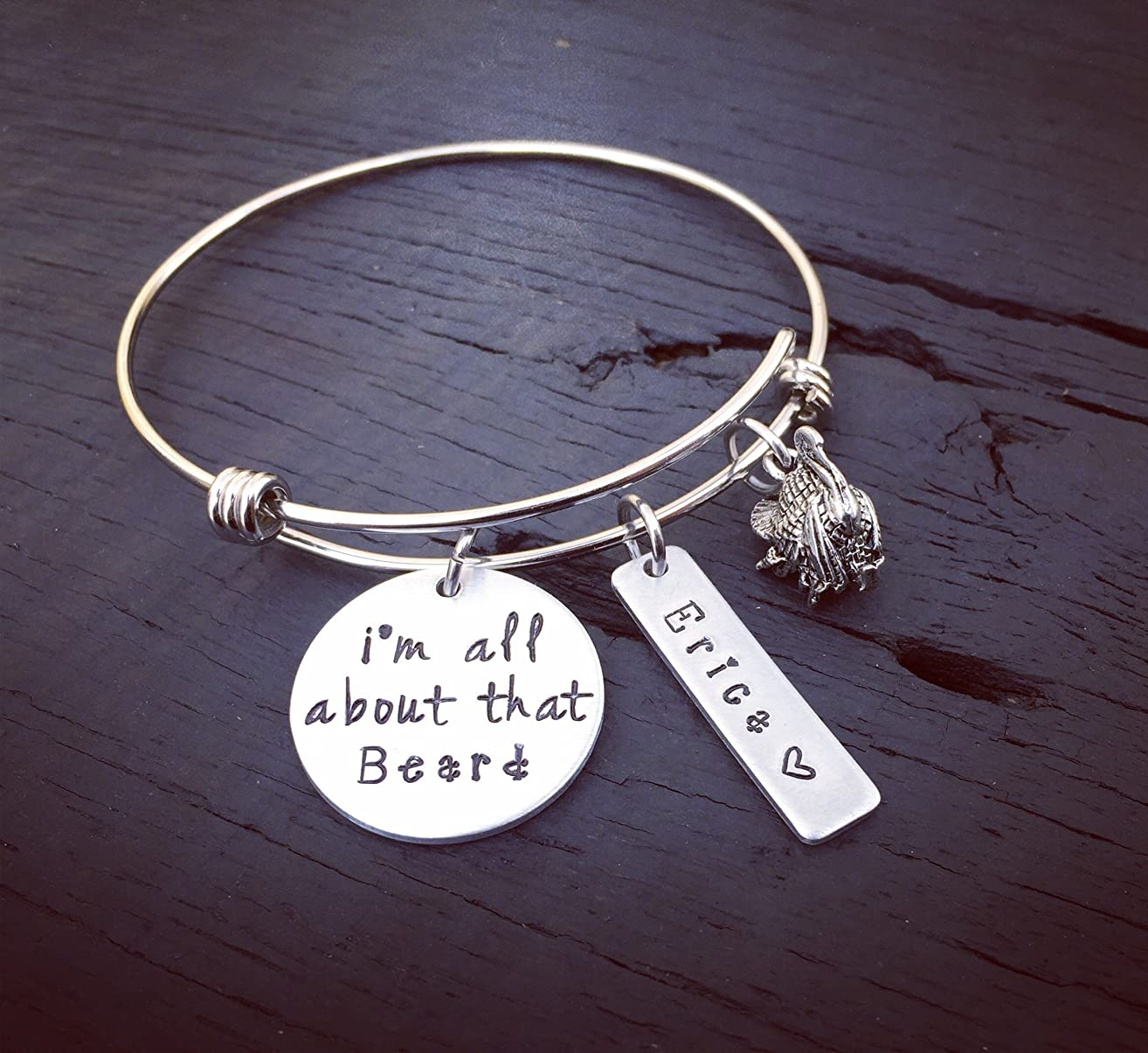 I'm All About That Beard Bracelet ? | Hunting Bracelet | Hunting Jewelry | Turkey Bracelet | Turkey Jewelry | Gift For Huntress | Bow Hunter