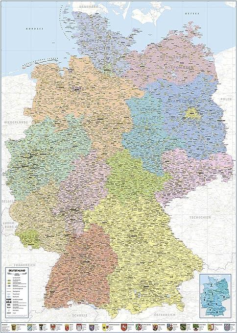 Länder deutschland angrenzende karte an Nachbarländer von
