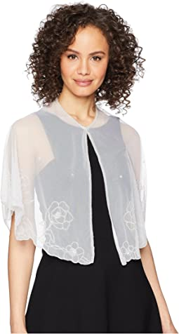 Betsey Johnson Beaded Floral Capelet