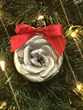 Sherlock Holmes Book Page Flower Christmas Ornament
