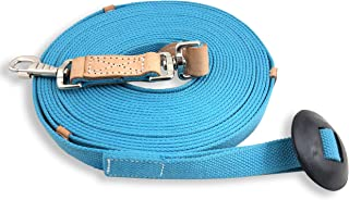 Southwestern Equine 35' Flat Cotton Web Lunge Line with Bolt Snap & Rubber Stop