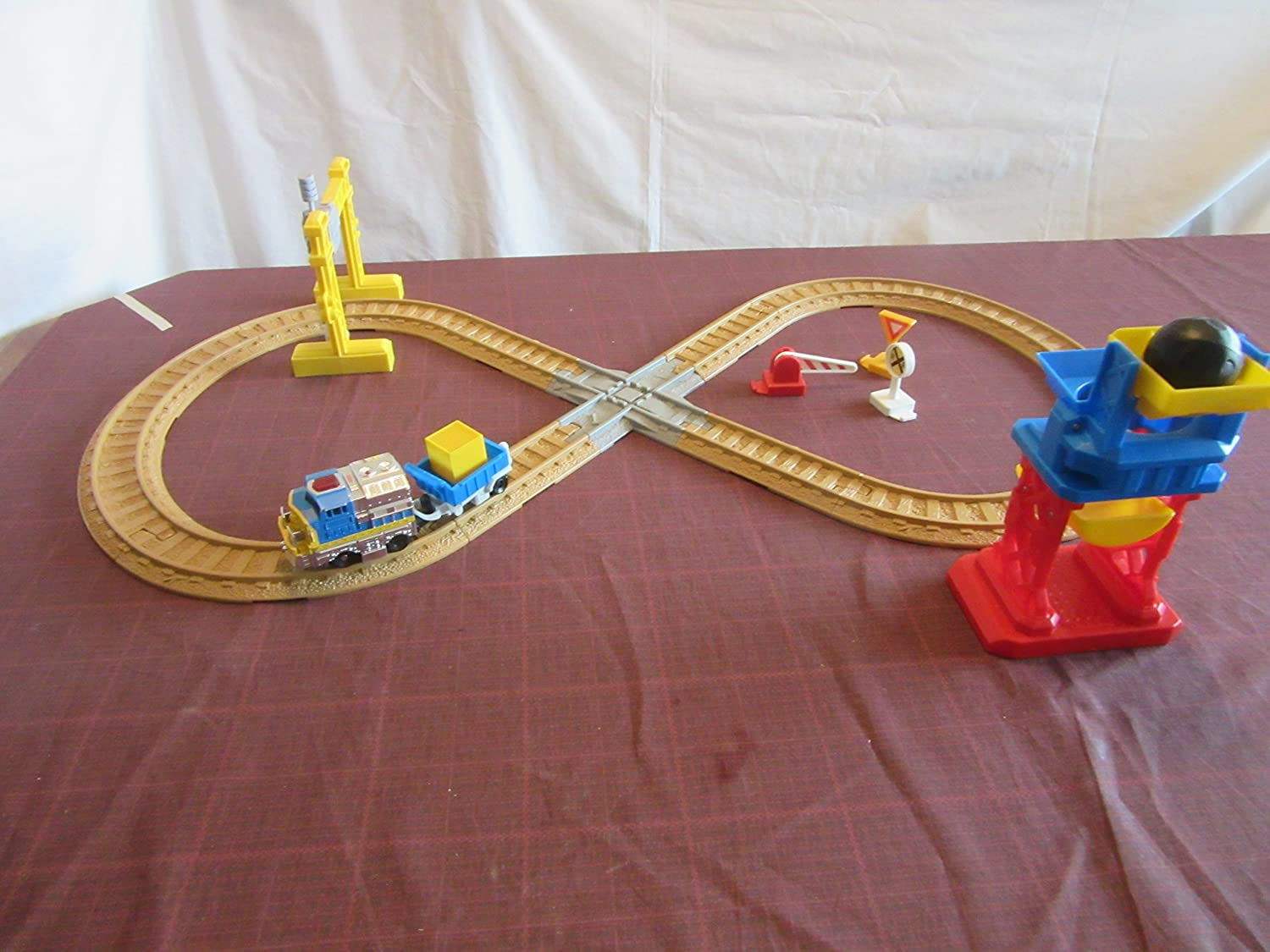 Details about  /Fisher Price Geo Trax Train Track freight box mail package factory mill CRATE