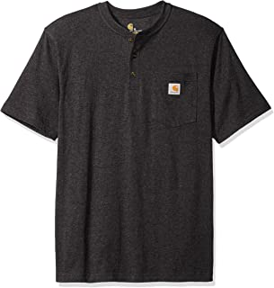 Men's Workwear Pocket Short Sleeve Henley Midweight Jersey Original Fit