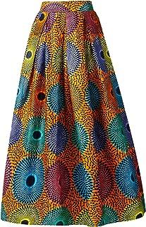 تنورة نسائية أفريقية تقليدية مطبوعة على طراز أنكارا من Dashiki تنورة طويلة