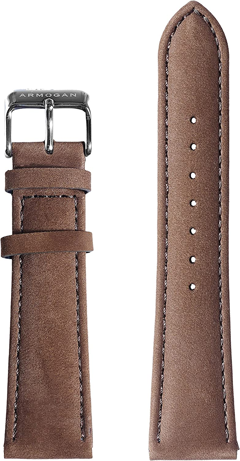 Armogan Genuine Suede 2021 new Leather Watch Brown Strap Stai - SC55S Max 79% OFF