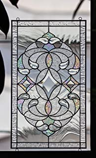 Mexicolour Tiffany Stained Glass Window Elegant Victorian Diamonds Beveled Pieces Window Panel