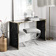 black and brass console table