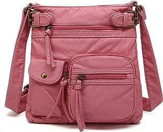 Small Multi Pocket Crossbody Bag for Women, Ultra Soft...