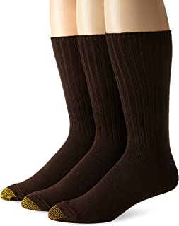 Gold Toe Men's Cotton Fluffies Casual Sock, 3-Pack