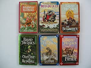 Redwall Series (Partial Set of 6 Books) The Outcast of Redwall; Mariel of Redwall; The Bellmaker; Salamandastron; The Pear...