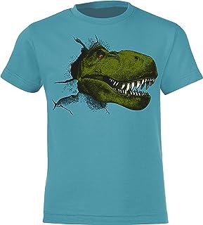 AMZTM 2 Jahre Junge Geburtstag Shirt Dino 2 Geburtstag Kurzarm T-Shirt Geschenk