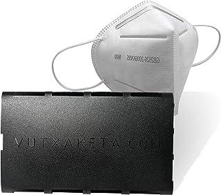 Vutxaketa - Guarda mascarillas de bolsillo, estuche salvamascarillas - Modelo Texto