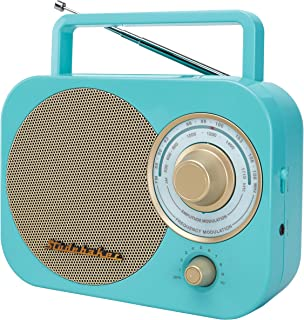 Studebaker SB2000TG Turquoise/Gold Retro Classic Portable AM/FM Radio with Aux Input Limited Edition