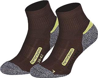 Piarini, Coolmax - 2 pares de calcetines cortos para senderismo y exteriores, talla 35-38 39-42 43-46 47-50, Todo el año, Hombre, color marrón, tamaño 43-46