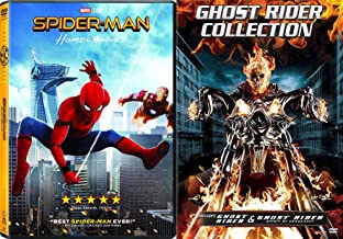 Spider Ghost Marvel pool Triple Super Hero Movies Ghost Rider & Spirit of Vengeance (DVD) Part 2 + Homecoming Spider-Man Movie 3 Pack Comic