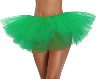 Women's, Teen, Adult Classic Elastic 3,4, 5 Layered Tulle Tutu Skirt
