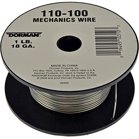 Clipsandfasteners Inc 2LB 18 Gauge Mechanics Wire 332