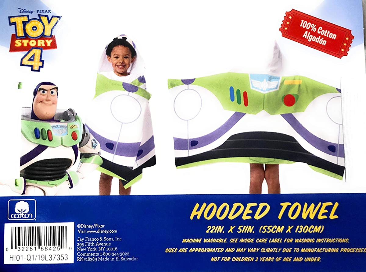 ヒューマニスティックかび臭い幾分Jay Franco Toy Story 4 フード付きタオル 22インチ x 51インチ。