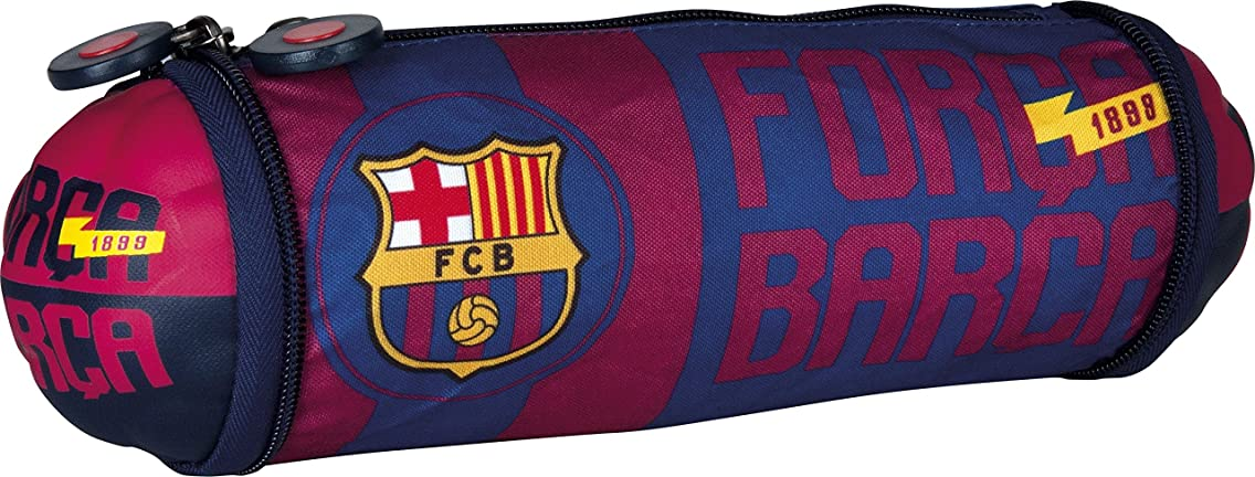 FC Barcelona Barca Fan 4 Pencil Cases, 21 cm, 1.5 liters, Blue (Navy Blue)