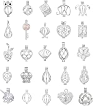 10pcs Mix Jewelry Making Supplies Silver Plated Bead Cage Pendant - Add Your Own Pearls, Stones, Rock to Cage,Add Perfume Essential Oils to Create a Scent Diffusing Pendant Charms