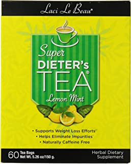Laci Le Beau Super Dieter's Tea, Lemon Mint - 60-Count Box (Pack of 2)