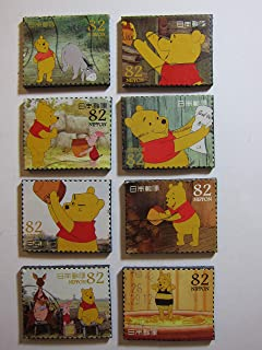 Winnie the Pooh Magnets - Set of 8 Postage Stamp Fridge Magnets