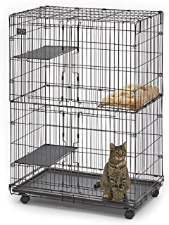 MidWest Cat Playpen/Cat Cage Includes 3 Adjustable Resting Platforms, Removable Leak-Proof Pan, Easy 2-Door Top/Bottom Acc...