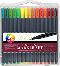 Studio Series Fine-Line Marker Set (30 vibrant colors, 0.4mm tips) (Perfect for Art Projects, Bullet Journaling, Coloring,...