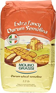 Molino Grassi Extra Fancy Durum Wheat Semolina Flour, 2.2 lbs