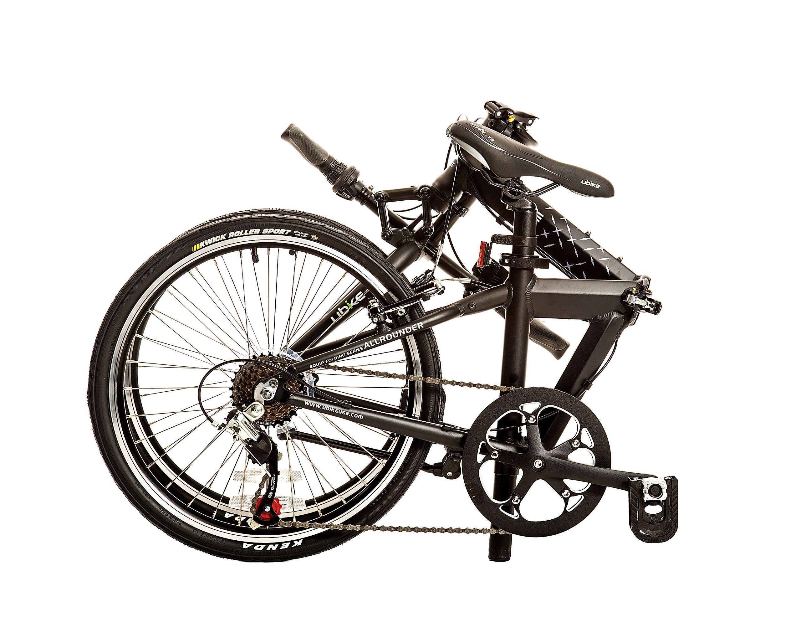 BIKE USA Bicicleta Plegable de 7 velocidades Ubike Allrounder con Rueda de 20 Pulgadas, tamaño único de 10 Pulgadas: Amazon.es: Deportes y aire libre