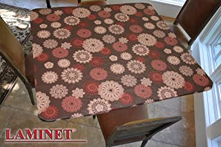 "LAMINET Elastic Fitted Table Cover - Medallion - Square - Fits Tables up to 46"" Square"