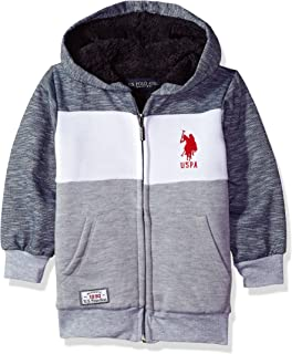 U.S. Polo Assn. Boys' Hooded Zip or Snap Fleece Jacket