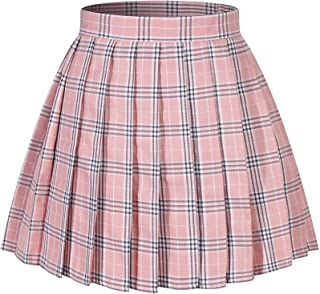 2c44dc02083 Beautifulfashionlife Women s Japan high Waisted Pleated Cosplay Costumes  Skirts